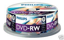 Philips DVD-RW 4.7 GB, 4x Speed, Cakebox 25 Stück
