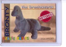 Ty S1 Red Retired Bronty the Brontosaurus Beanie Card 4085 Rare Card Insert Only