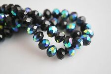 150Ps Faceted Glass Crystal Loose Bead Rondelle Necklace&Bracelet Finding 8x6mm
