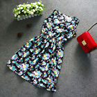 Fashion Women Summer Casual Sleeveless Floral Mini Party Cocktail Dress