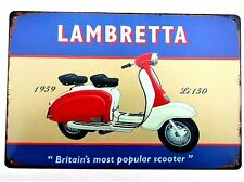 LAMBRETTA LOUNGE METAL TIN SIGNS vintage cafe pub garage decor retro kitchen