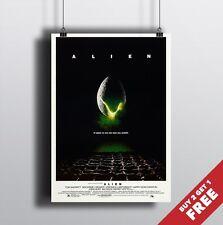 ALIEN 1979 MOVIE POSTER, A3 A4 Classic Film Print Sci-Fi Horror Movie Poster