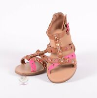 Nina Girls Tan / Pink Strappy Sandals Sz 9 US / 25 EU $45 NWOB