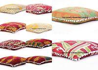 "5 PC LOT Indian Kantha Cushion Cover Bohemian Pillow Sham Cover Bed Pillows 28"""