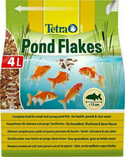 Tetra Pond Flake, Complete and Varied Fish Food for Young and Small Pond Fish, 4