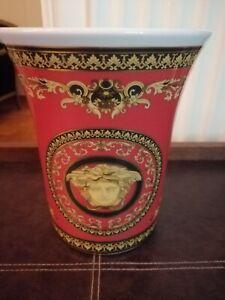 Rosenthal Versace Medusa burgundy Vase - 18 cm (S0053)