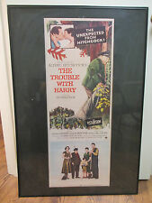 """""""The Trouble with Harry"""" Hitchcock 1955 Original Movie Poster 14"""" x 36"""" / Framed"""