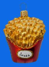 SM ORDER OF FRENCH FRIES EUROPEAN BLOWN GLASS CHRISTMAS TREE ORNAMENT FOOD