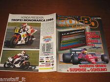 RIVISTA ROMBO 1986/15=RALLY SAFARI WALDEGARD=JACKY ICKX=10 ANNI DI RENAULT F.1=