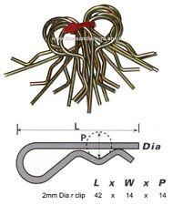10 pc 2mm R Clips - Retaining Clips - Trailer Pin - Tractor Pin - Retaining Clip