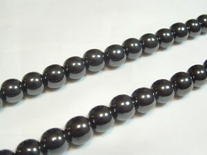 """16"""" String Magnetic Hematite Beads: HEMMAG05: 10mm Round (approx. 40 per string)"""
