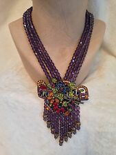 RETIRED Color -PURPLE - HEIDI DAUS WATERFALL CASCADE Necklace