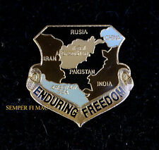 0PERATION ENDURING FREEDOM OEF USA IRAN HAT PIN US ARMY NAVY AIR FORCE MARINES