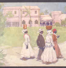 """BARBADOES..GOING TO WORK"" BLACK,NEGRO LADIES,INFO ON BACK,TUCK,FORREST,POSTCARD"