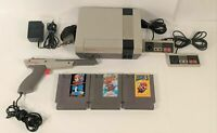 NINTENDO NES SYSTEM CONSOLE SUPER MARIO BROS 1 2 3 BUNDLE WITH NEW 72 PIN Tested
