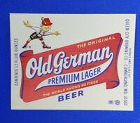 Lot of 5 Cumberland Brewing Co OLD GERMAN 12 oz Paper Beer Labels Unused MD NOS