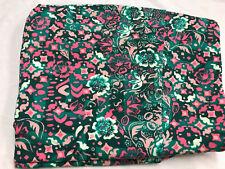Lularoe pink army green baby pink shpes& flowers Print TC Legings PlusSize