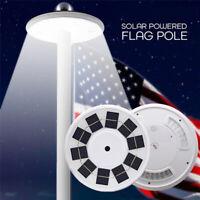 108LED Solar Powered Flag Pole Light Automatic Light Night Super Bright Flagpole