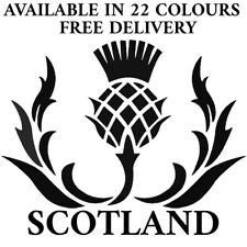 Scottish Thistle Car Stickers Funny Vinyl Decals Motorbike Fairings Panniers