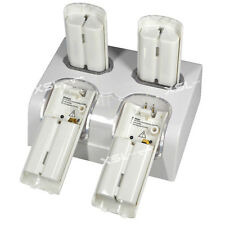 Twin Dock with 4 Charging Port For Nintendo Wii Remote + 4 Rechageable Batteries