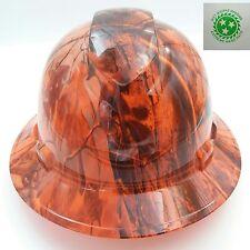 Full Brim Hard Hat Custom Hydro Dipped New Deep Woods Blaze Camo Hot New