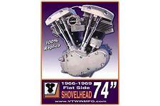 Flatside Shovelhead Engine Plaque Sign For Harley-Davidson