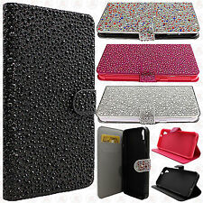 For HTC Desire 626 Premium Glitter Bling Diamond Wallet Case Pouch Accessory