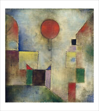 Klee - The Red Balloon - fine art giclee print poster wall art various sizes