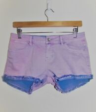 RIDERS by LEE Purple Distressed Denim Shorts Size 10 Small S RRP:$79.95