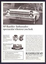 "1965 Rambler Ambassador Convertible photo ""Spectacular View"" vintage print ad"