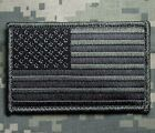 USA AMERICAN FLAG TACTICAL MORALE MILITARY ACU DARK VELCRO® BRAND FASTENER PATCH