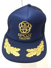 f038c545c69d4 Vintage Disney Epcot Scrambles Eggs Brim Gold Hat Snapback trucker Style USA