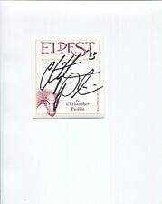 CHRISTOPHER PAOLINI autographed 3x4 unused bookplate    BOOK 2 INHERITANCE CYCLE