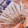 Women Big Pearl Headband Crown Crystal Hairband Hair Hoop Girls Accessories