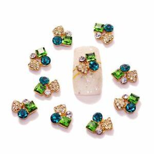 Nail Art 3D Sapphire Emerald Crystal Alloy Rhinestones Decorations Jewelry Nails