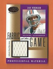 2001 LEAF CERTIFIED FABRIC OF THE GAME JAY FIEDLER GAME-USED JERSEY #FG-125