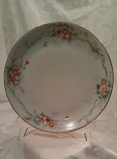"Royal Crescent China Bavaria, Hand Painted Plate, Pink Pansies 8 ½"""