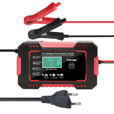 Automatic Car Battery Charger Repair Jump Starter Charger 12V6A Portable Lcd Red
