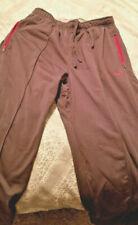 Nike men activewear pants Grey Gray silver Red Size M w/ 3 pockets & symbol NICE