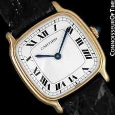 CARTIER Vintage Mens Midsize Unisex Mechanical Watch - Solid 18K Gold