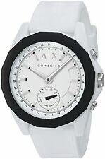 Armani Exchange Men's AXT1000 White Silicone Band Connected Hybrid Watch
