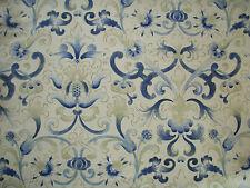 "ZOFFANY CURTAIN FABRIC DESIGN ""Parterre"" 11.5 METRES BLUE (1150 CM)"