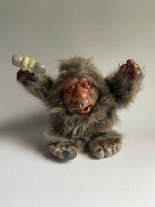 Vintage Da Grunt Caveman Doll Unity Creation 1989 Troll - Not Working - With Box