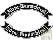 Rückenaufnäher, BikerPatch -Schwinge V2- im SET 30cm Wunschname,Rocker,Kutte,MC