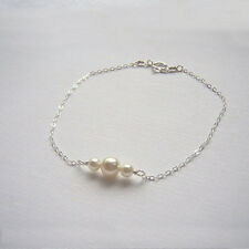 Fashion Women Lady Bracelet Pearl Bead Chain Cuff Bangle Charm Bracelets Jewelry