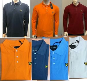 MEN'S BRAND NEW  LYLE AND SCOTT LONG SLEEVE POLO SHIRT