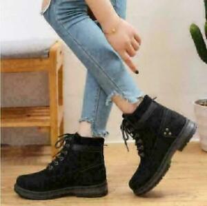 Damen Winter Stiefel Boots Schneeschuhe Wasserdicht Warm Stiefeletten Flache DE