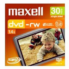 ($0 P & H) Maxell - 8cm Camcorder DVD-RW 30min 5 Pack Jewel Case
