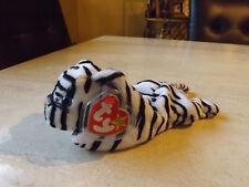 Ty Beanie Baby Blizzard the white tiger 1996 MWMT retired ERRORS