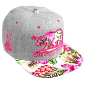 Hawaii Floral Baseball Cap California Republic Hat Cali Snapback Adjustable Men